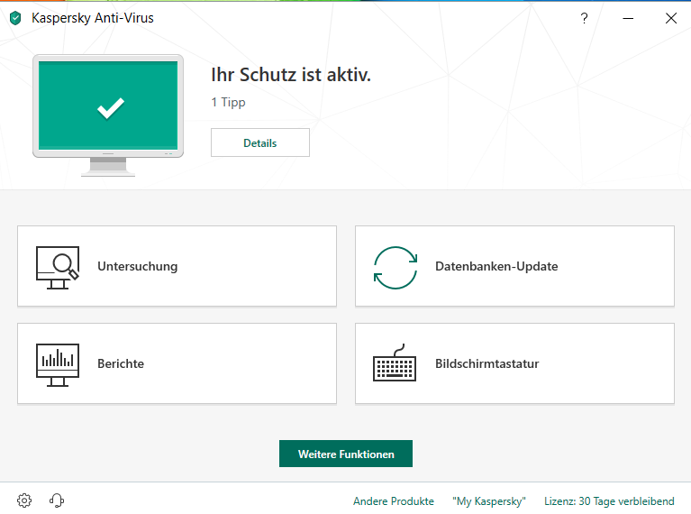 Kaspersky Antivirus Download (1Jahr/3PC)